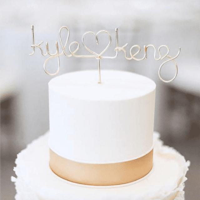 High-Class Artisan Wire Cake Topper