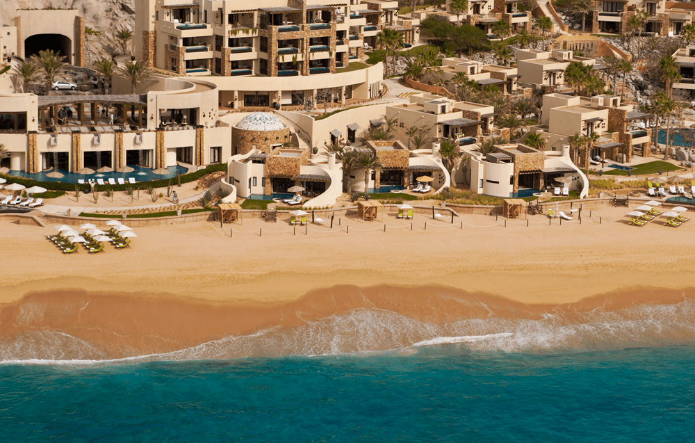 An aerial view of The Resort at Pedregal in Los Cabos, Mexico.