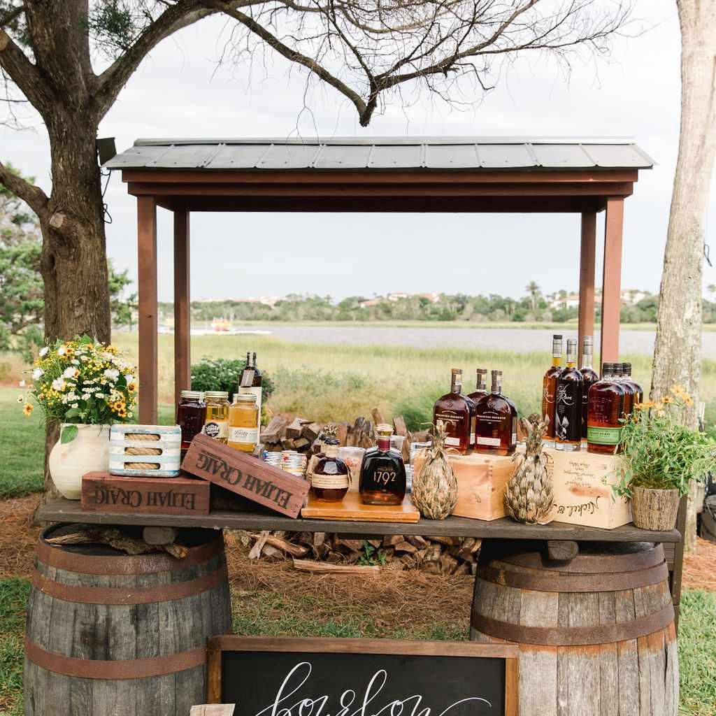 timeless southern wedding, bourbon tasting bar