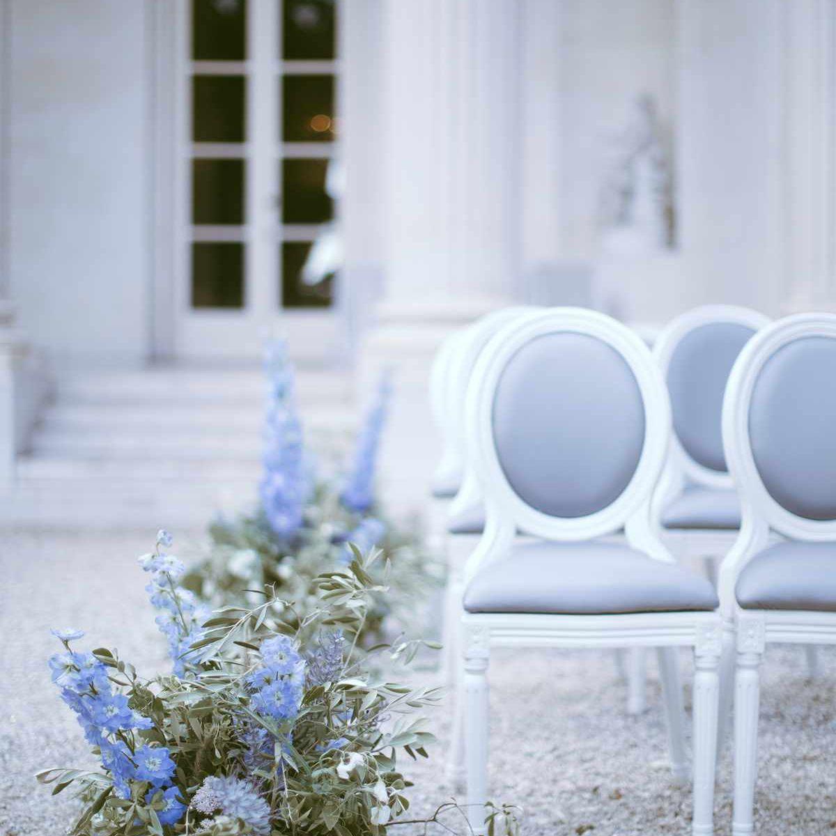 something blue wedding flowers