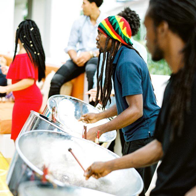 Jamaican drum players