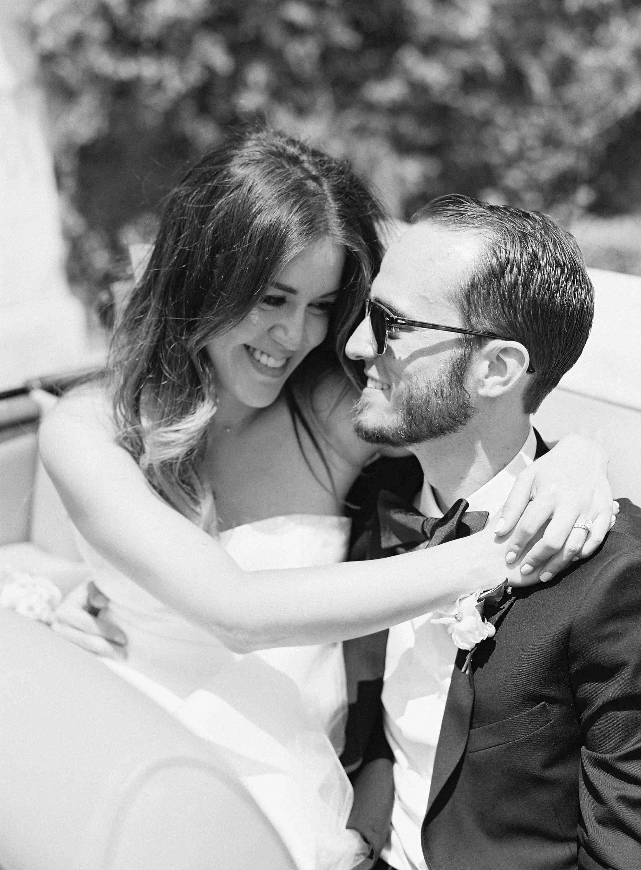 Portrait of couple on wedding day