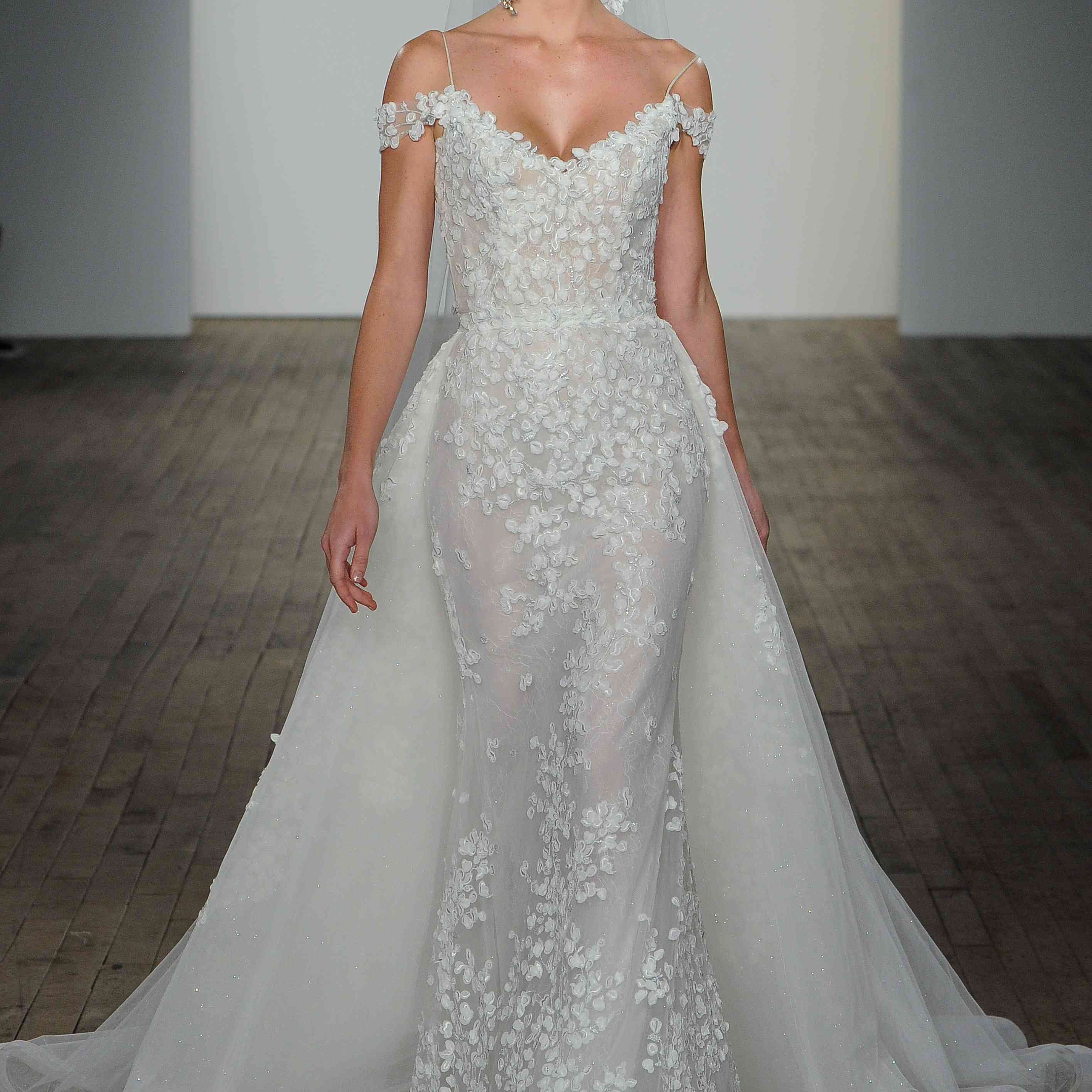 Olivia off-the-shoulder wedding dress lazaro