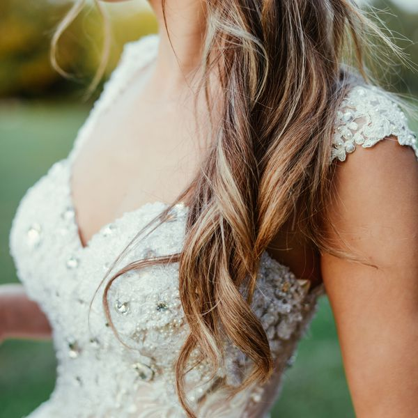 bride with hair