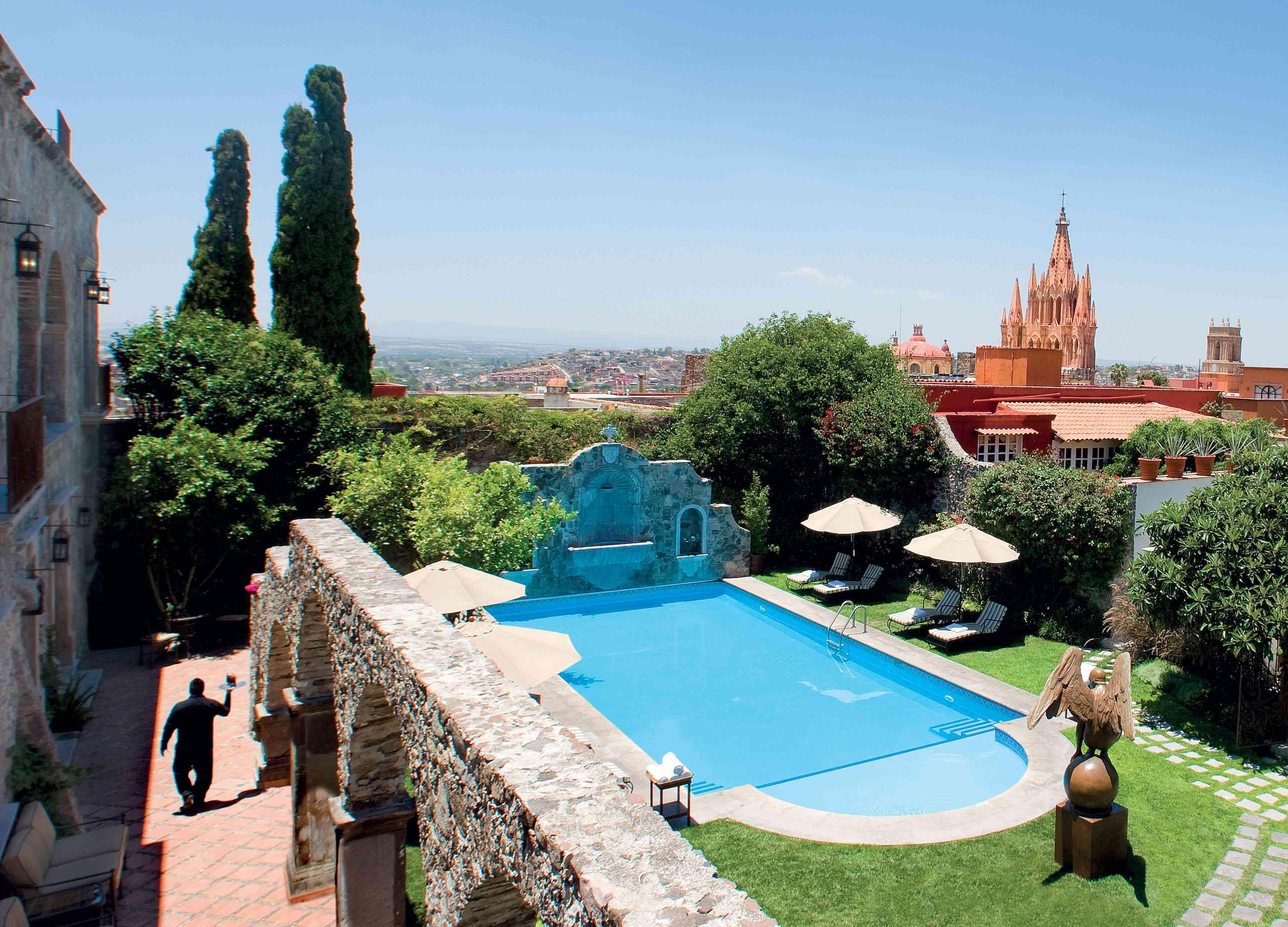 A view of the pool at Belmond Casa de Sierra Nevada.