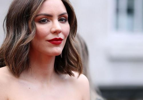 Katharine McPhee attends The Olivier Awards 2019.