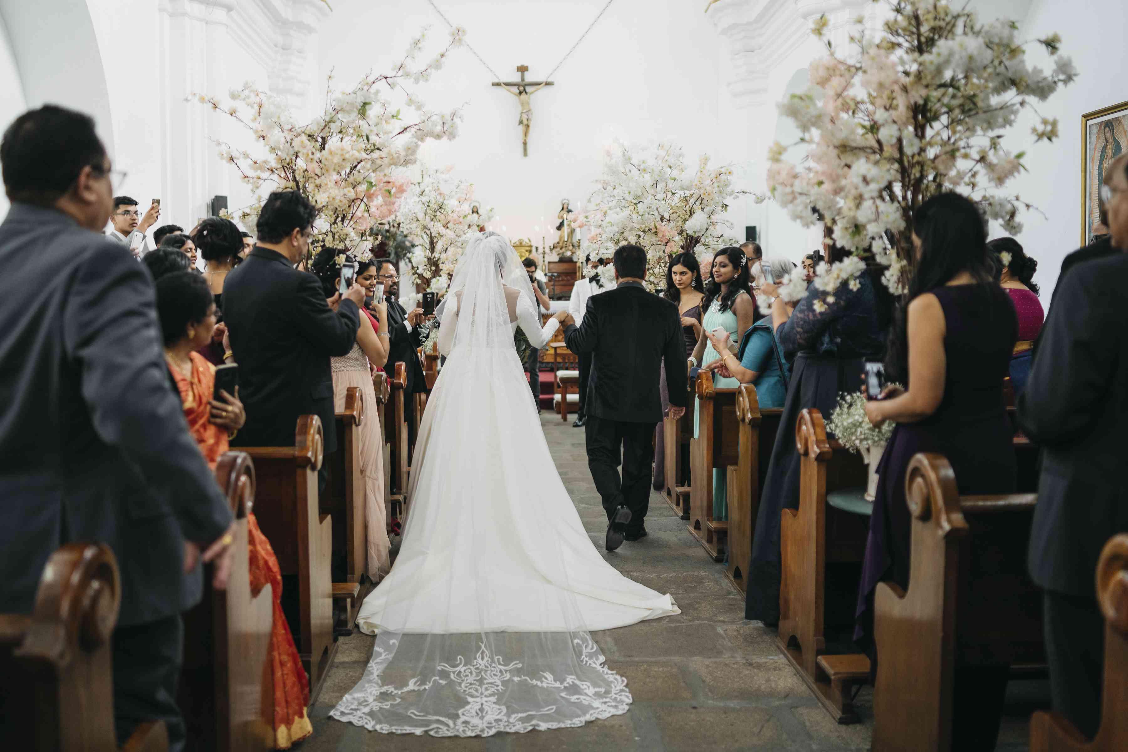 Father escorting the bride