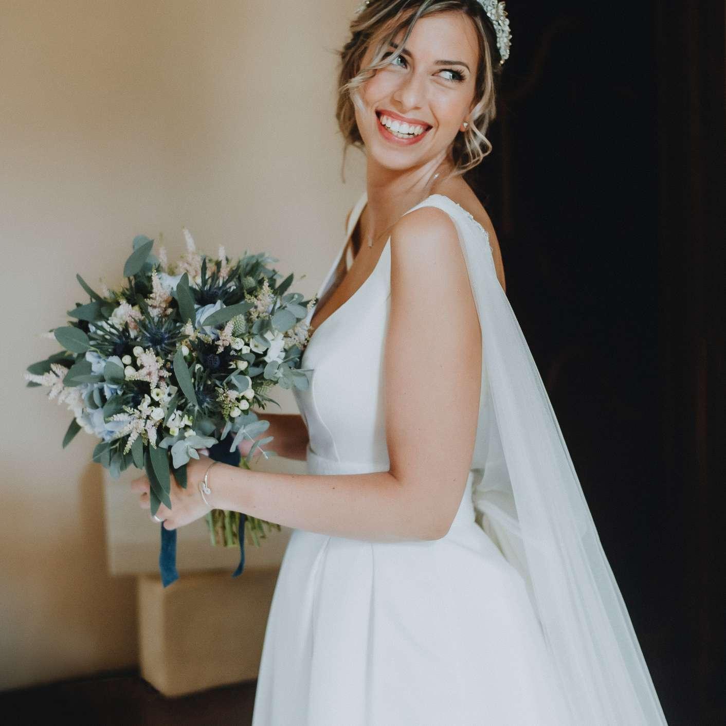 woman on wedding day