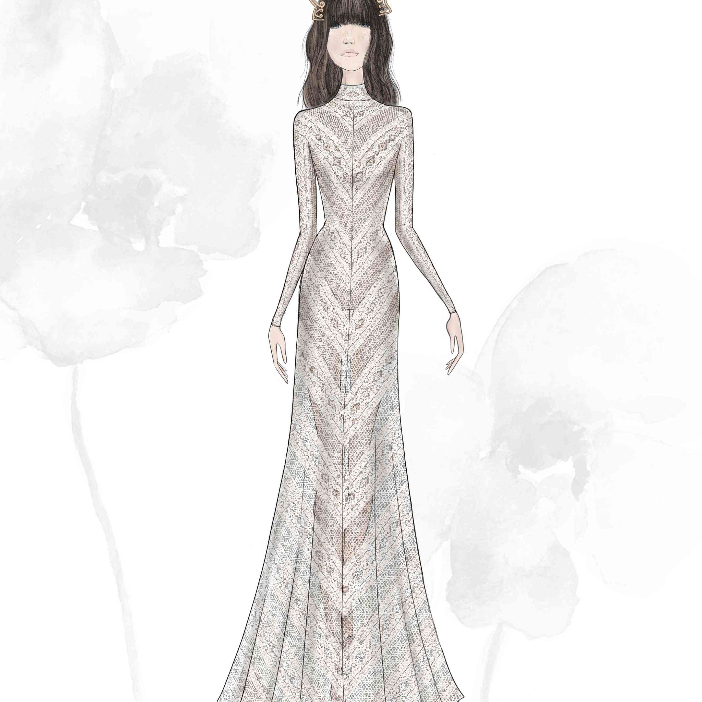 Willowby by Watters Bridal Fashion Week Fall 2020 Sketch