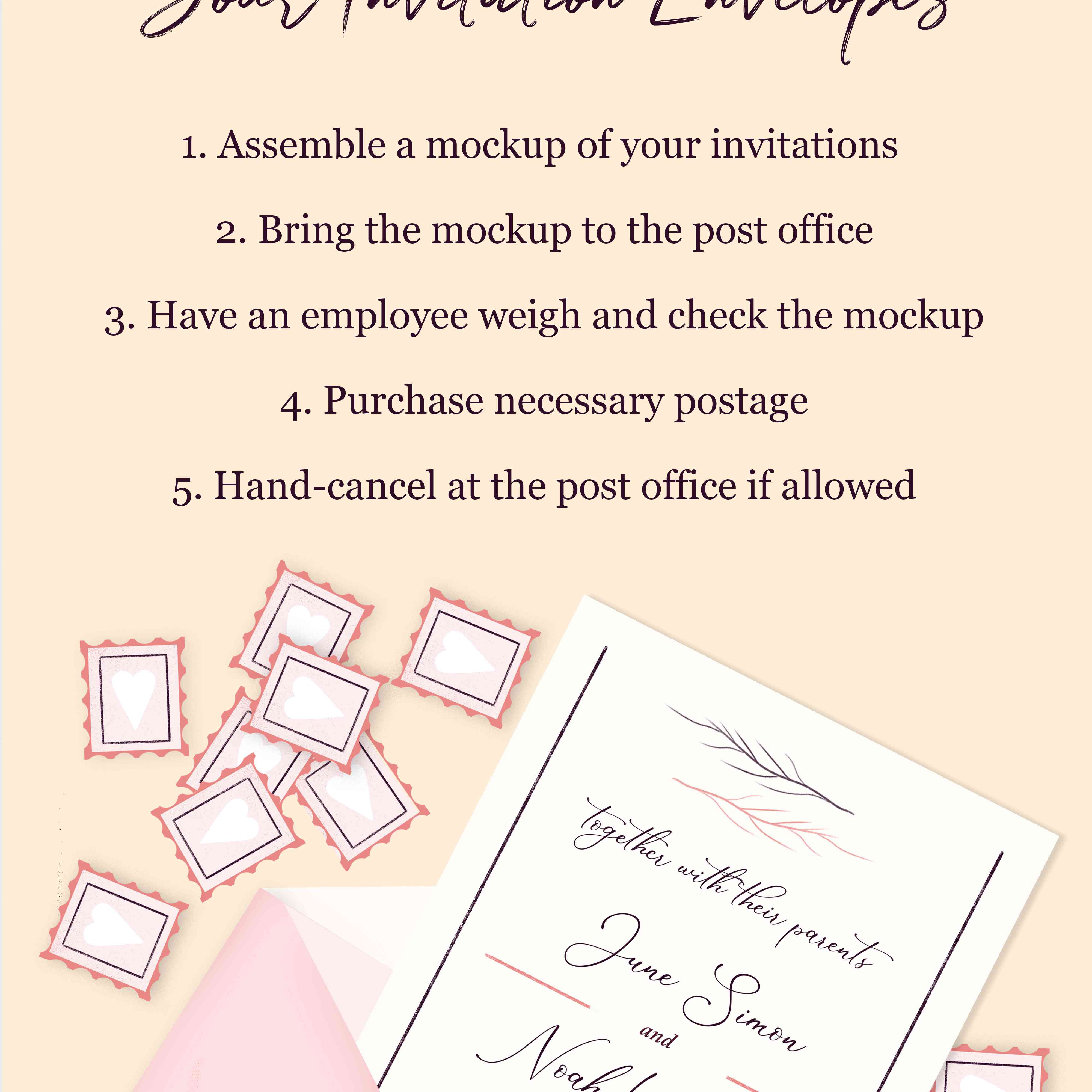 Hand-Canceling Your Wedding Invitations