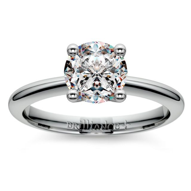 Brilliance Knife Edge Solitaire Engagement Ring