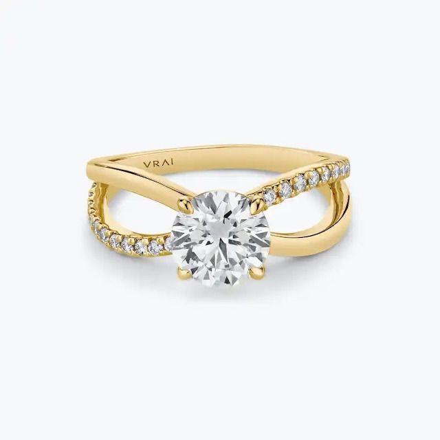 VRAI The Duet Diamond Ring in 18k Yellow Gold