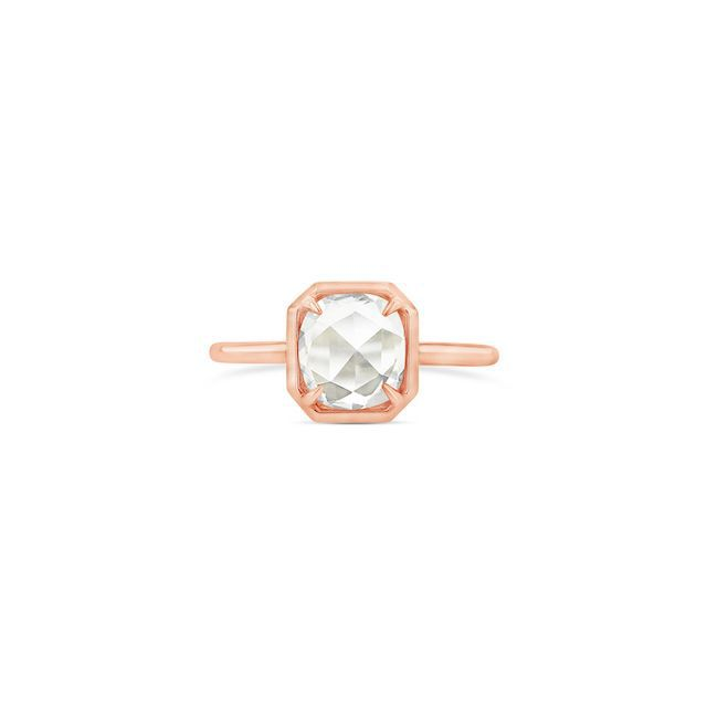 Grace Lee Oval Rose-Cut Diamond Octagonal Bezel Ring