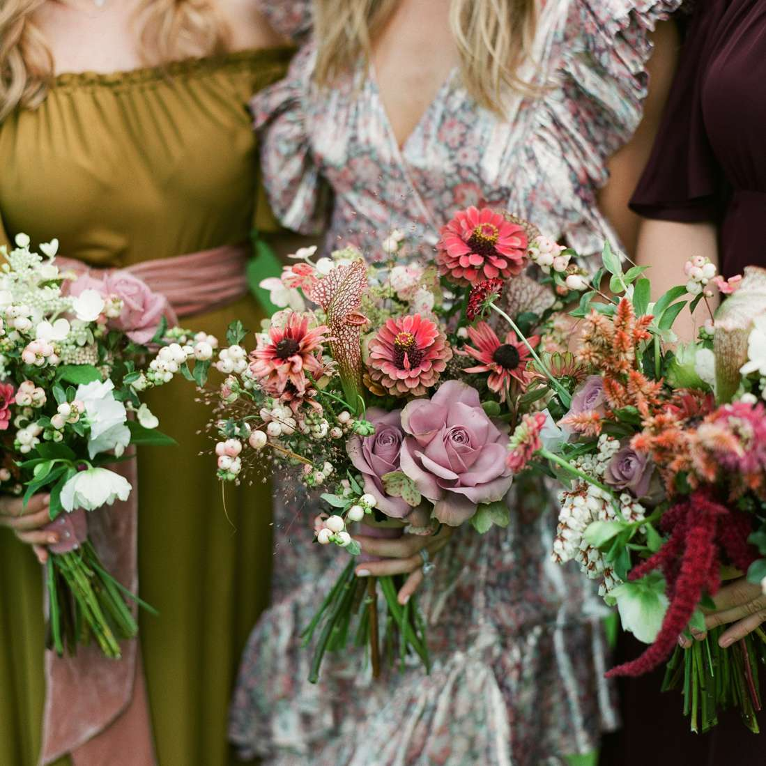Bouquet of organic mixed blooms