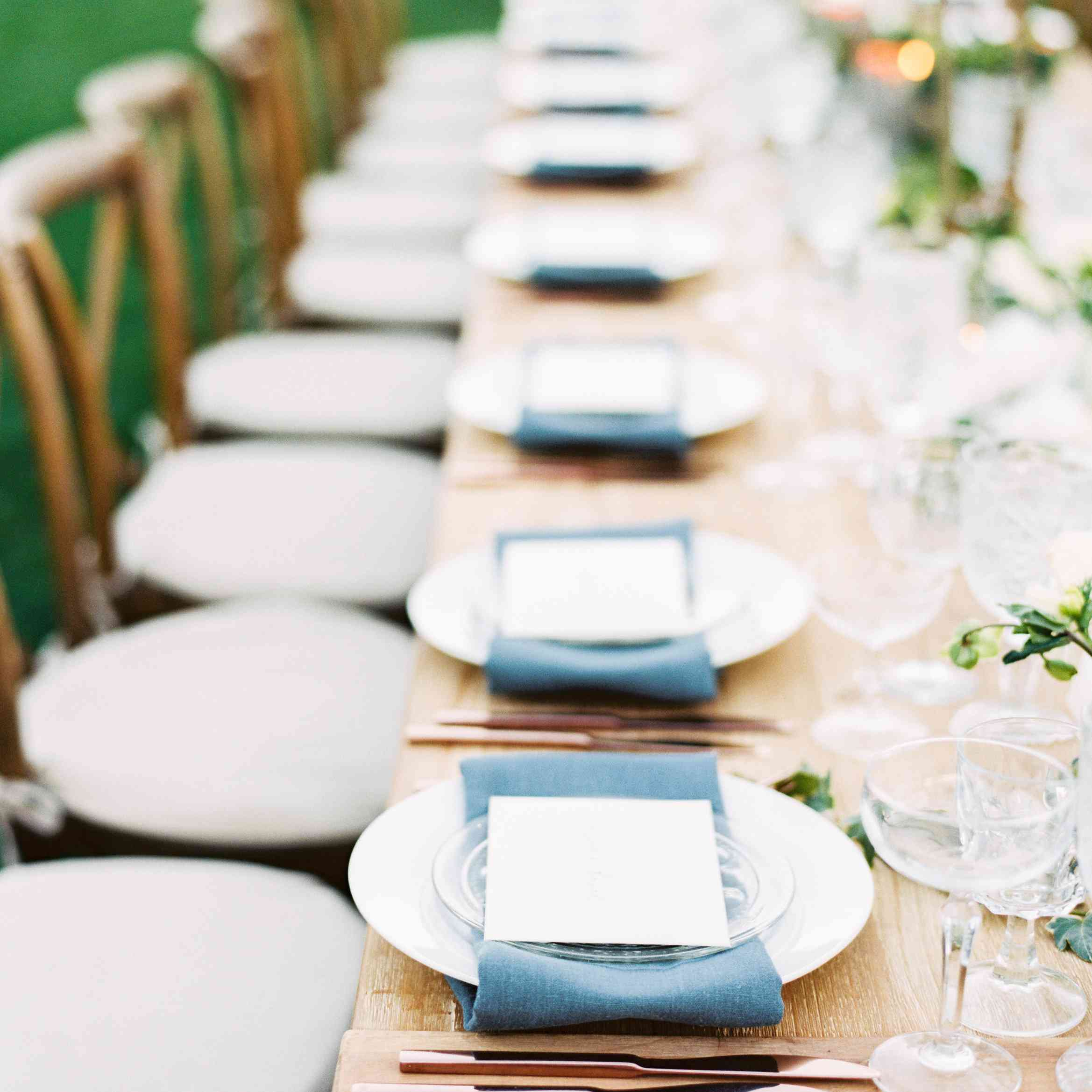 Place Settings With Copper Silverware
