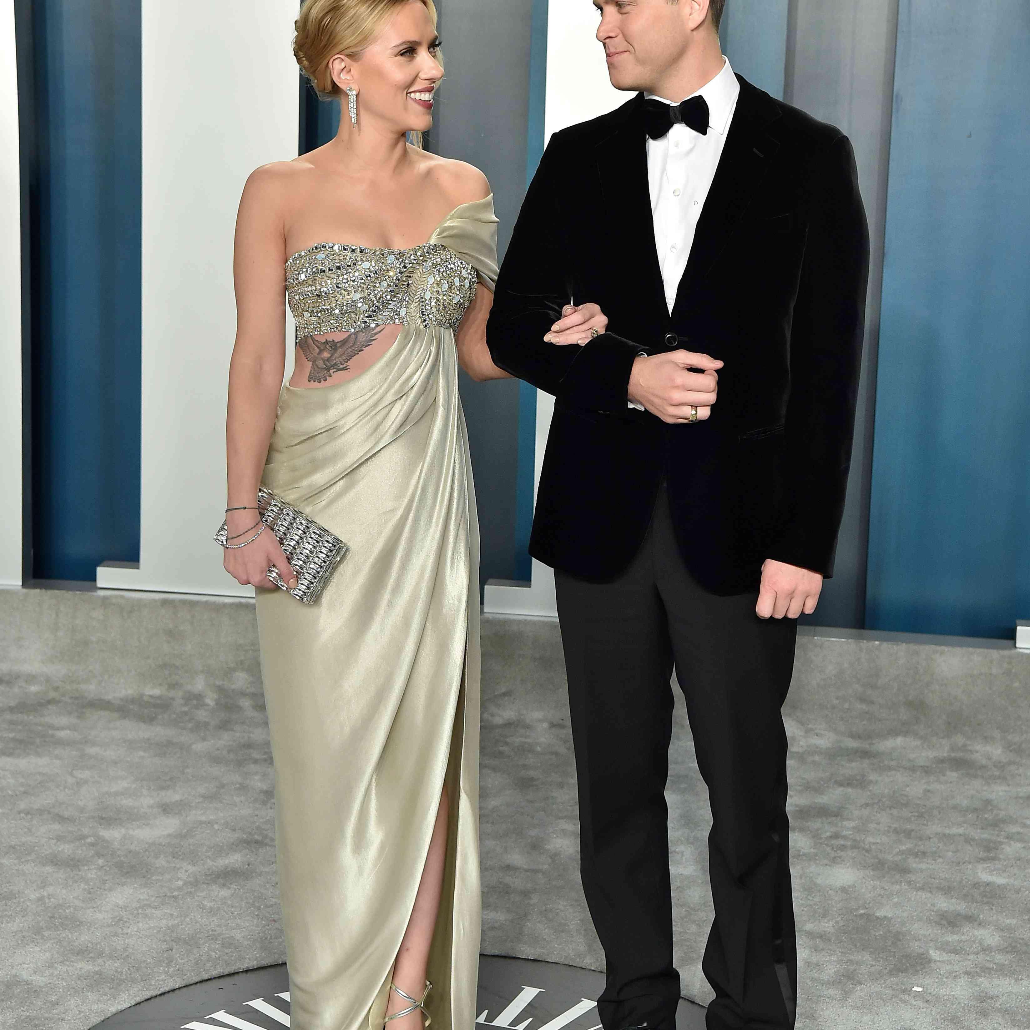 Colin Jost and Scarlett Johansson Vanity Fair Oscar Party