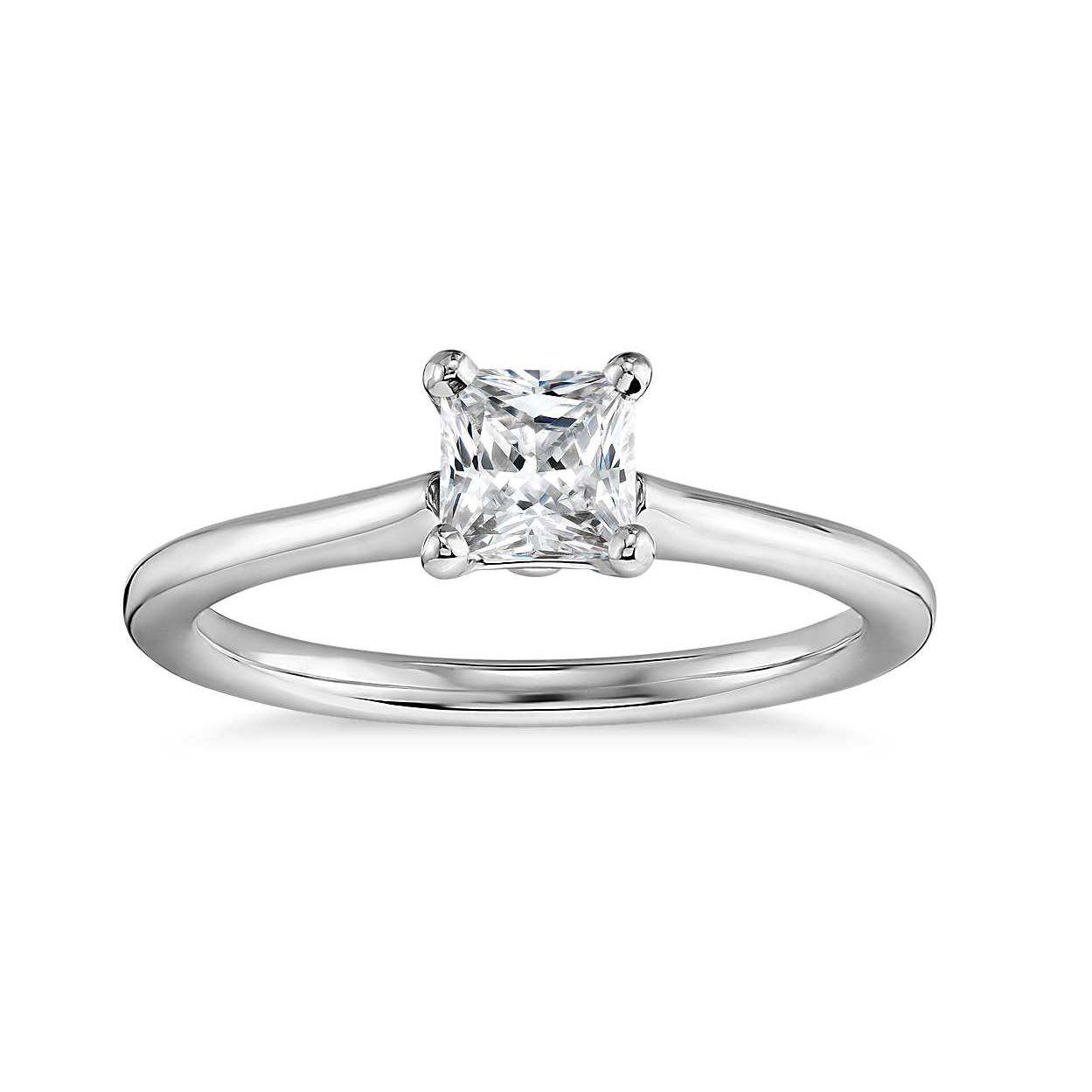 Blue Nile Princess-Cut Petite Solitaire Engagement Ring