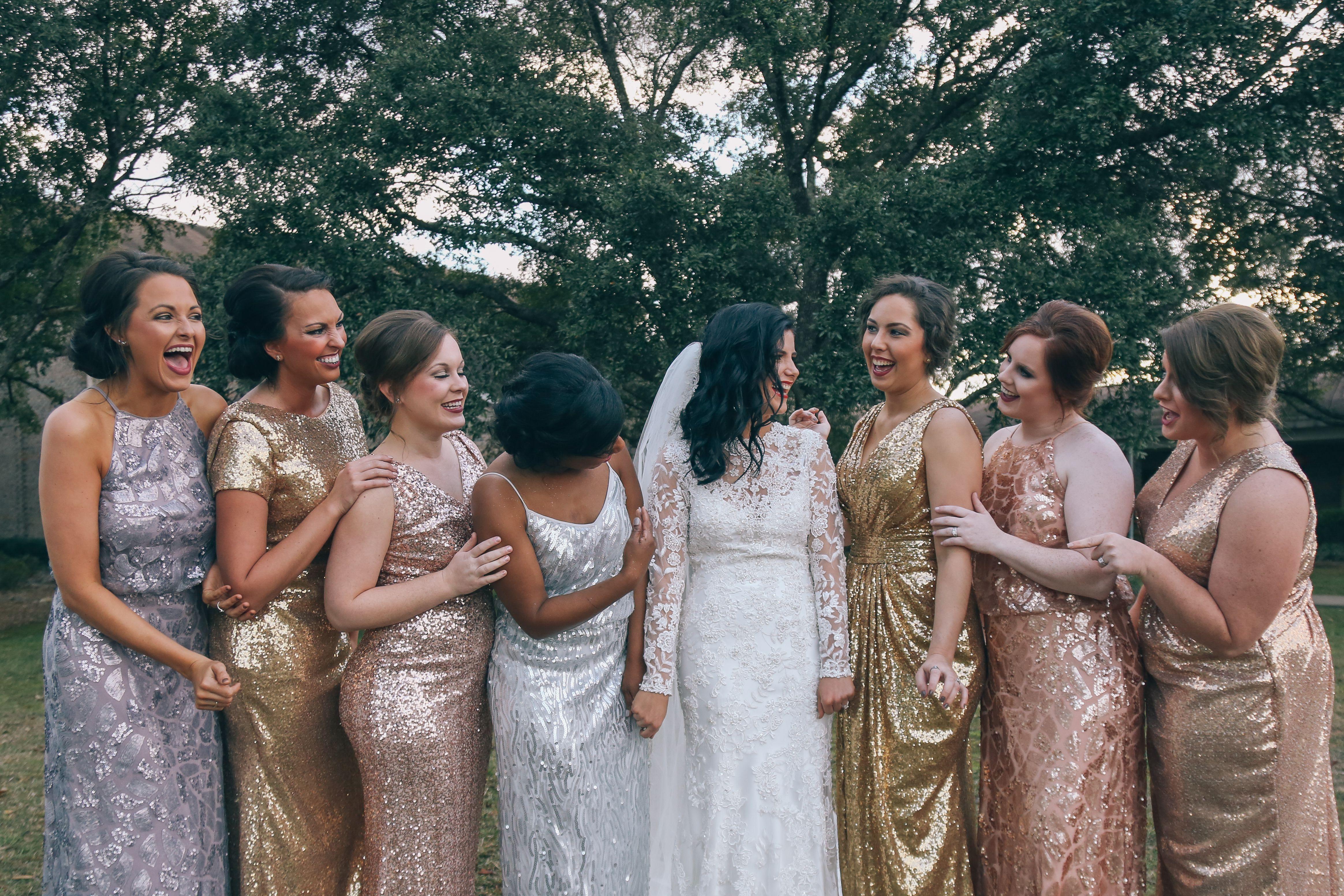 10 Sequin Bridesmaid Dresses