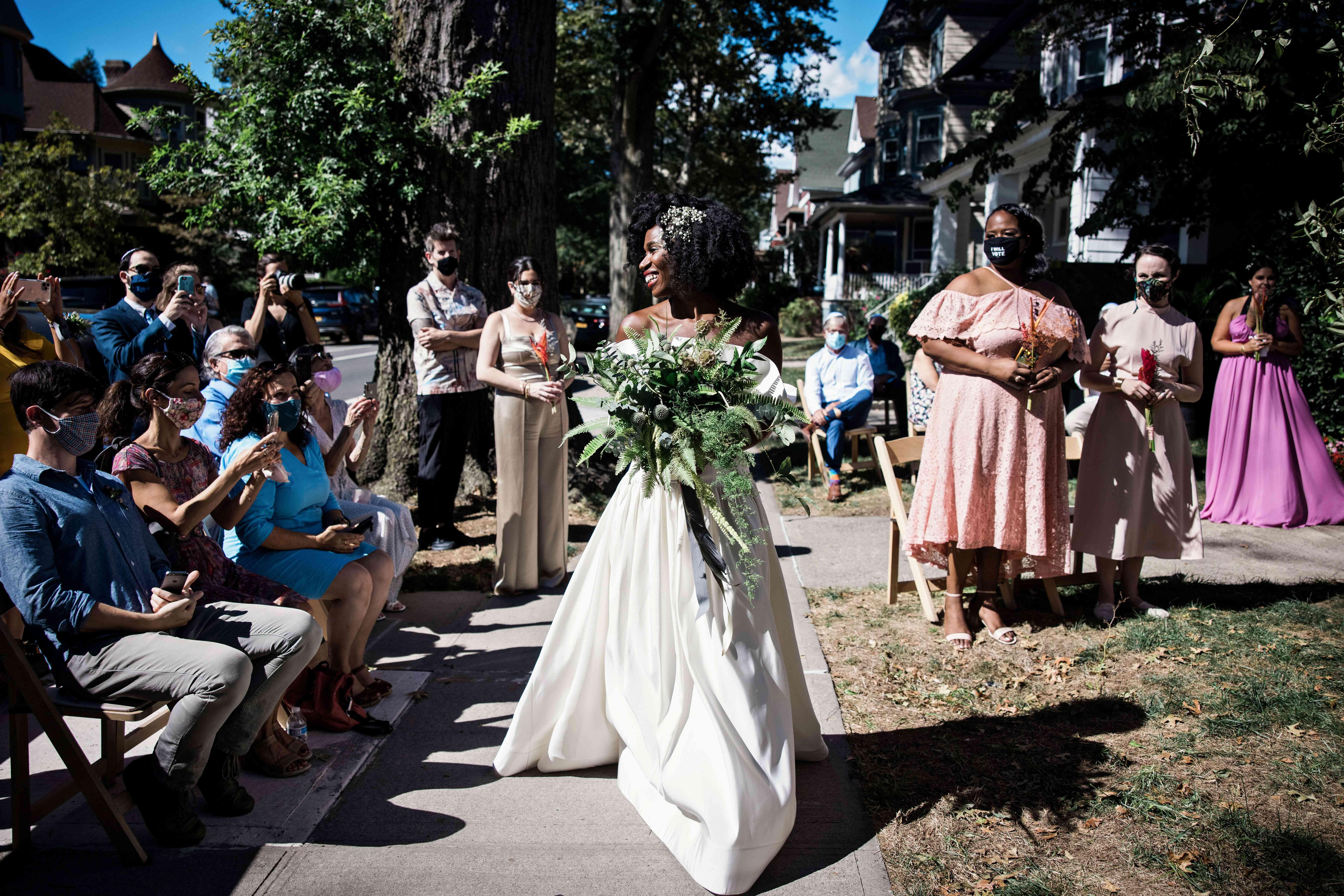 The bride procession