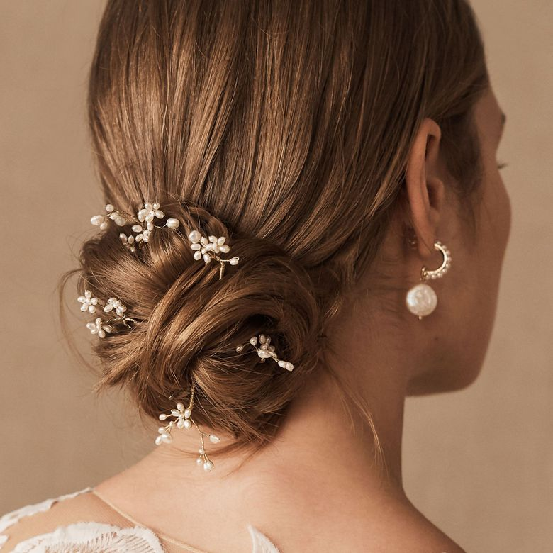Bridal Hair Pins Pearls Wedding Accessory Party White Hairpins