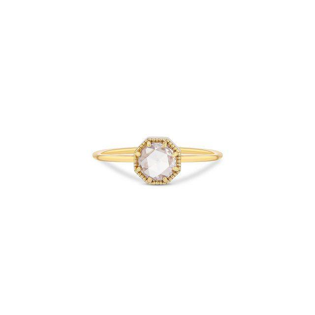 Grace Lee Crown Bezel Diamond Ring