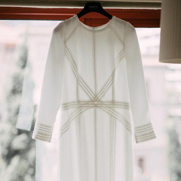 <p>Hanging wedding dress</p>