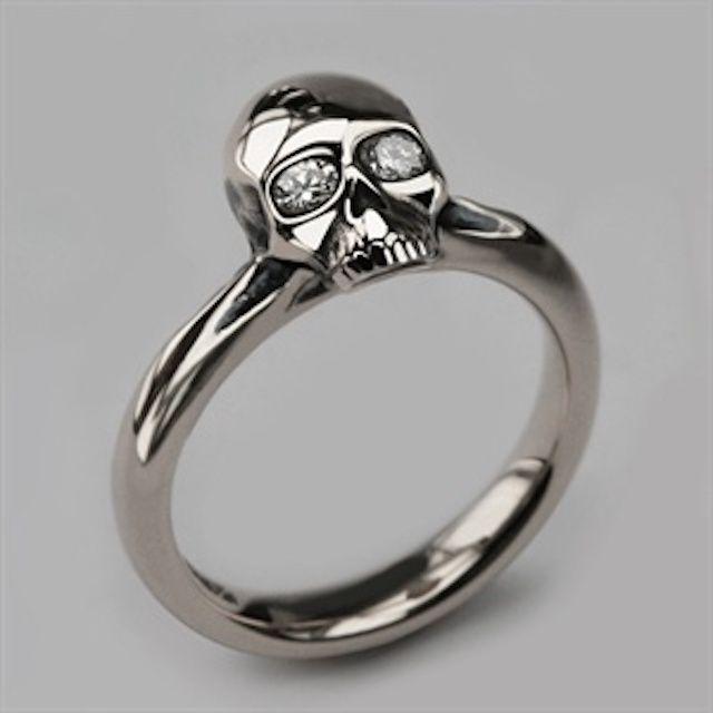 gothic engagement ring