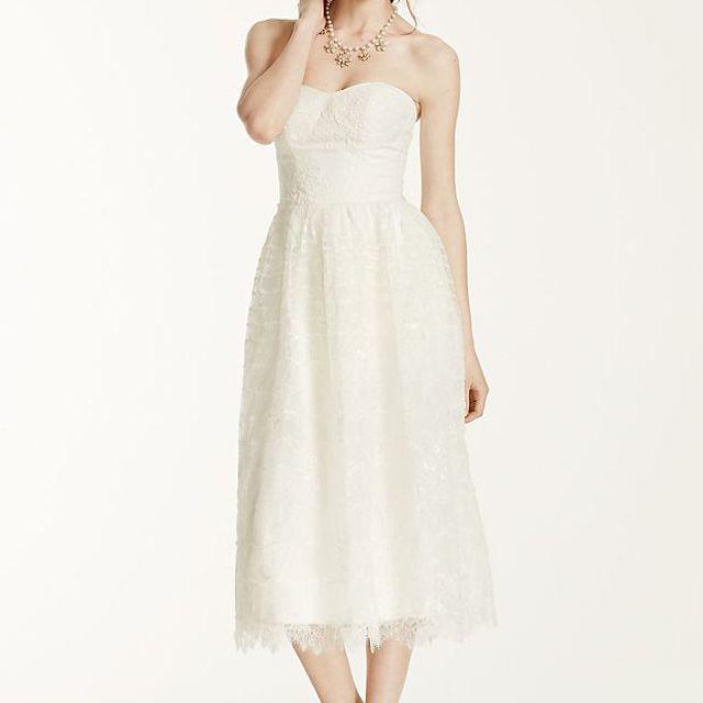 Melissa Sweet Short Lace Wedding Dress $249.99, was $850