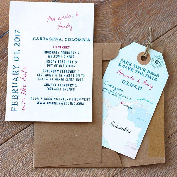Wedding Invitations For Destination Wedding: Invitations And Stationery For A Destination Wedding