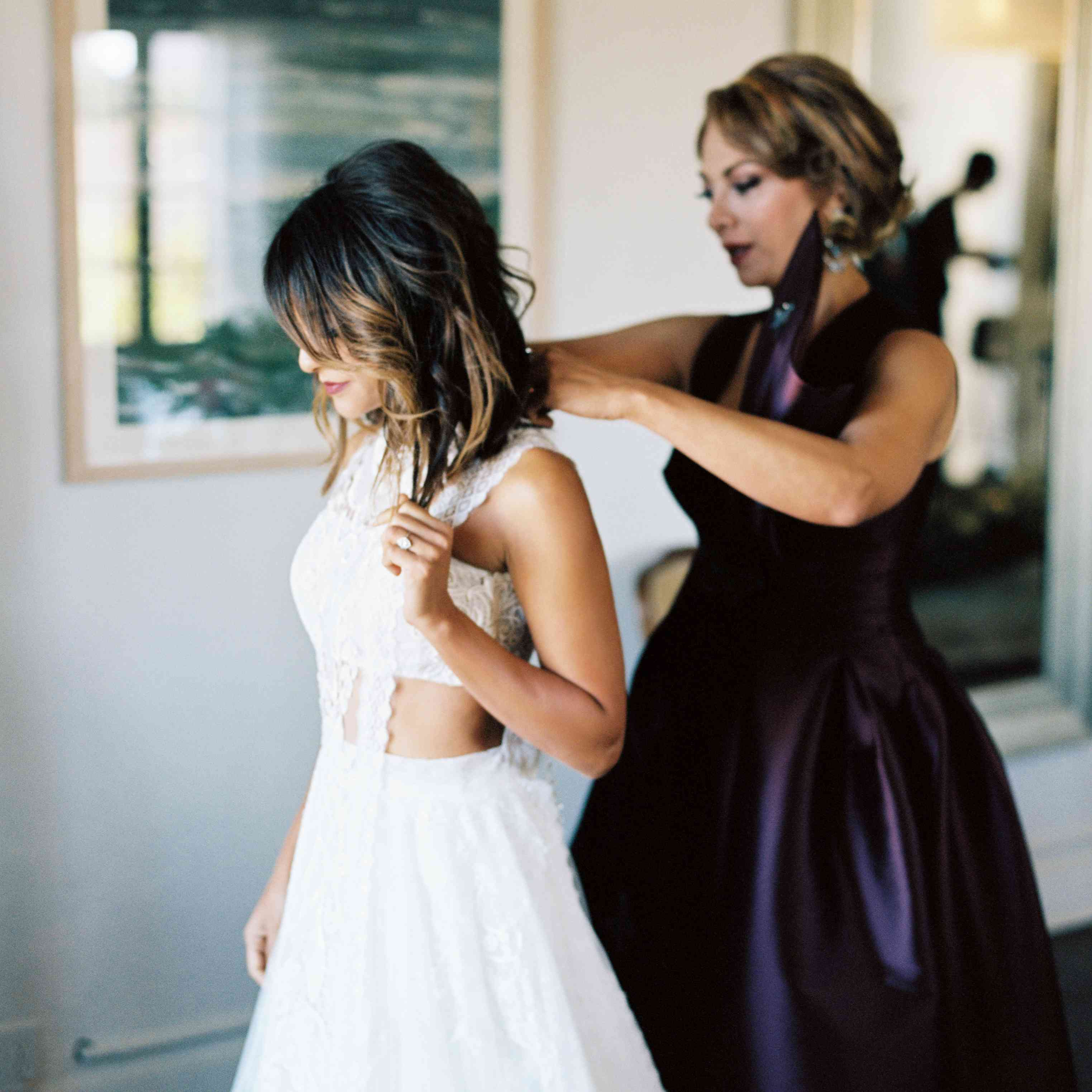 bride getting ready mother of the bride