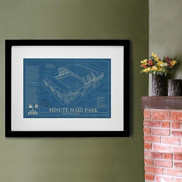 Uncommon Goods Baseball Stadium Blueprints
