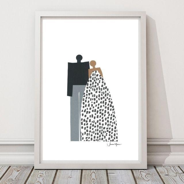 LouLouArtStudio Minimalist Couple Portrait
