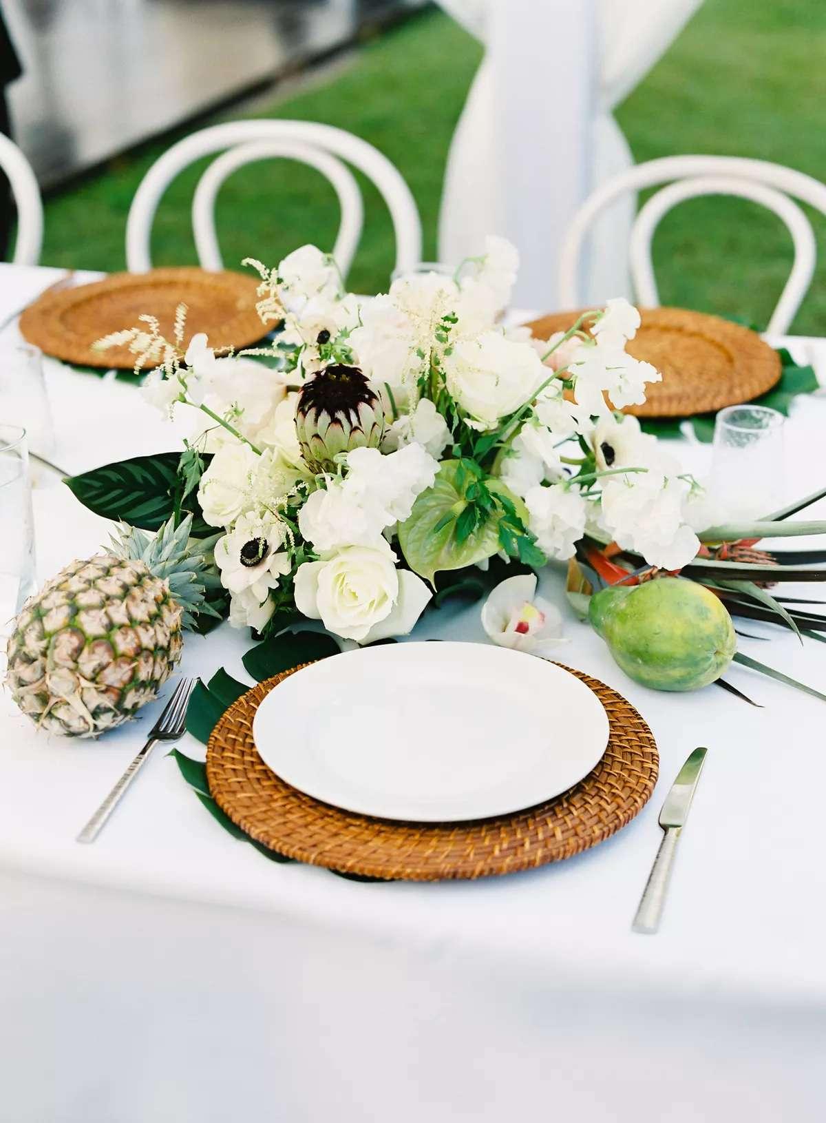 fruit and flower centerpiece
