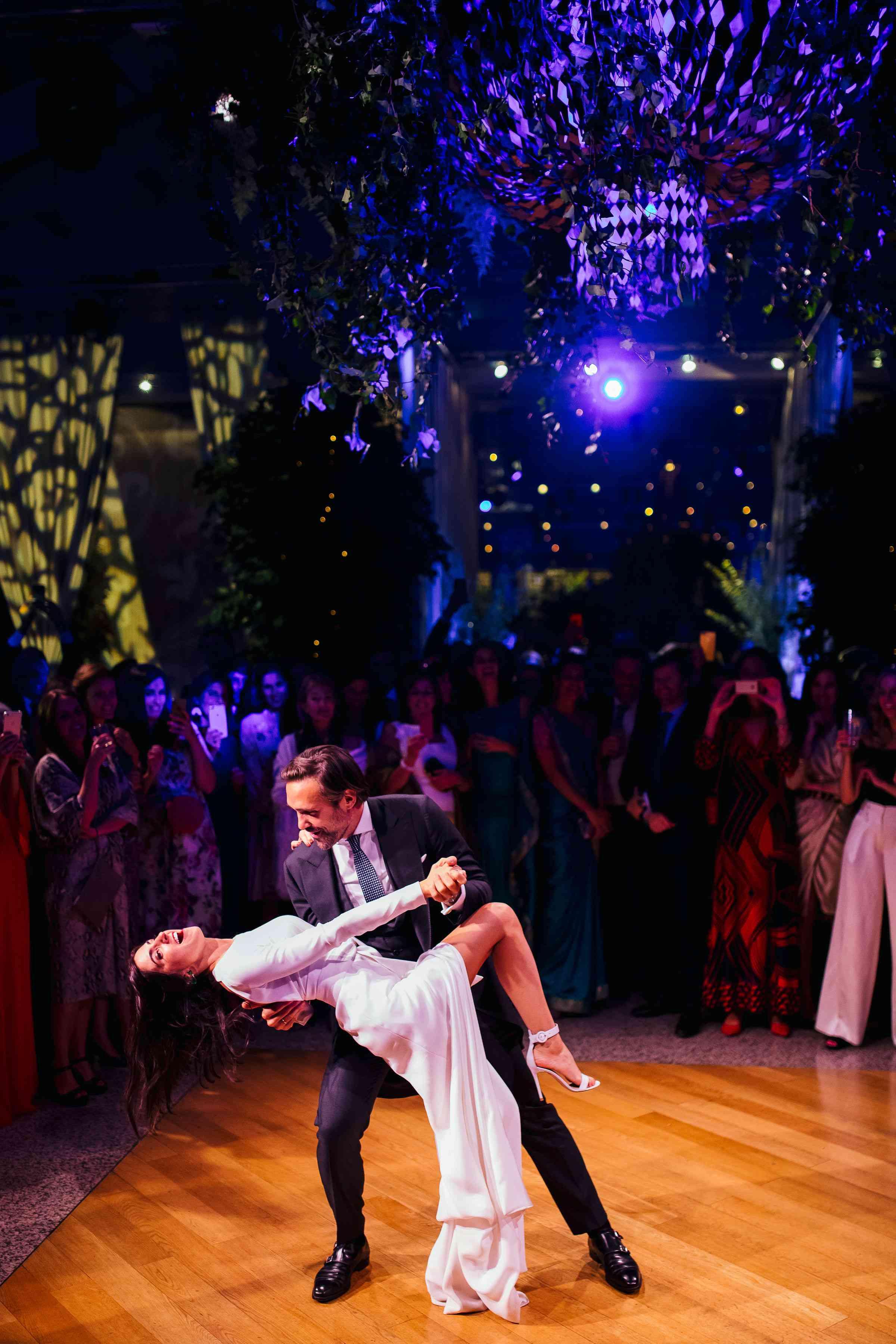 bride and groom dancing, first dance