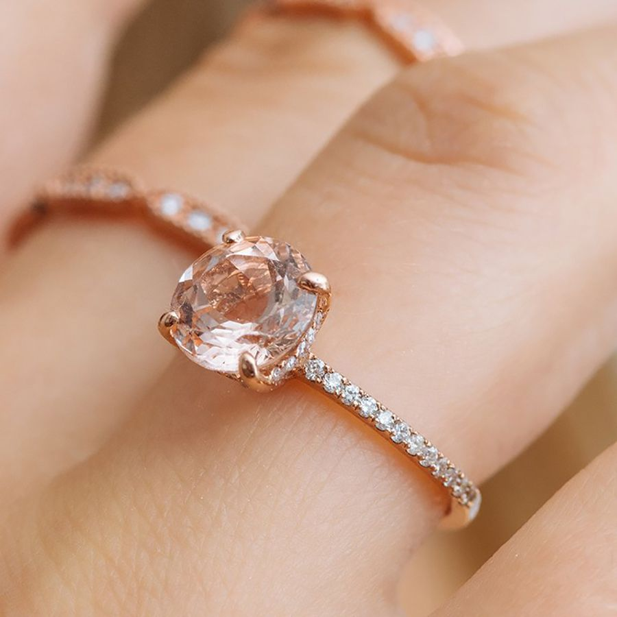 69 Rose Gold Engagement Rings For Every Bridal Style