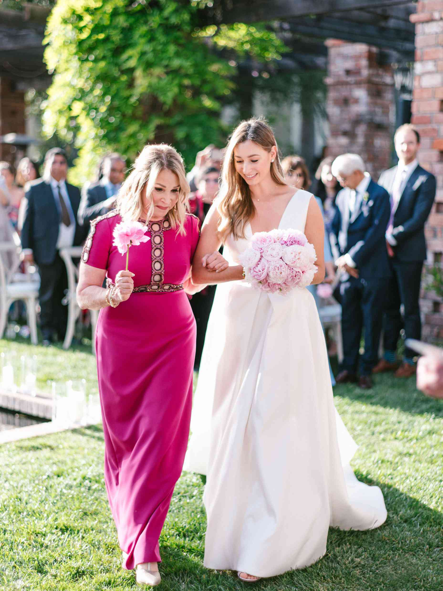 mother of the bride pink dress