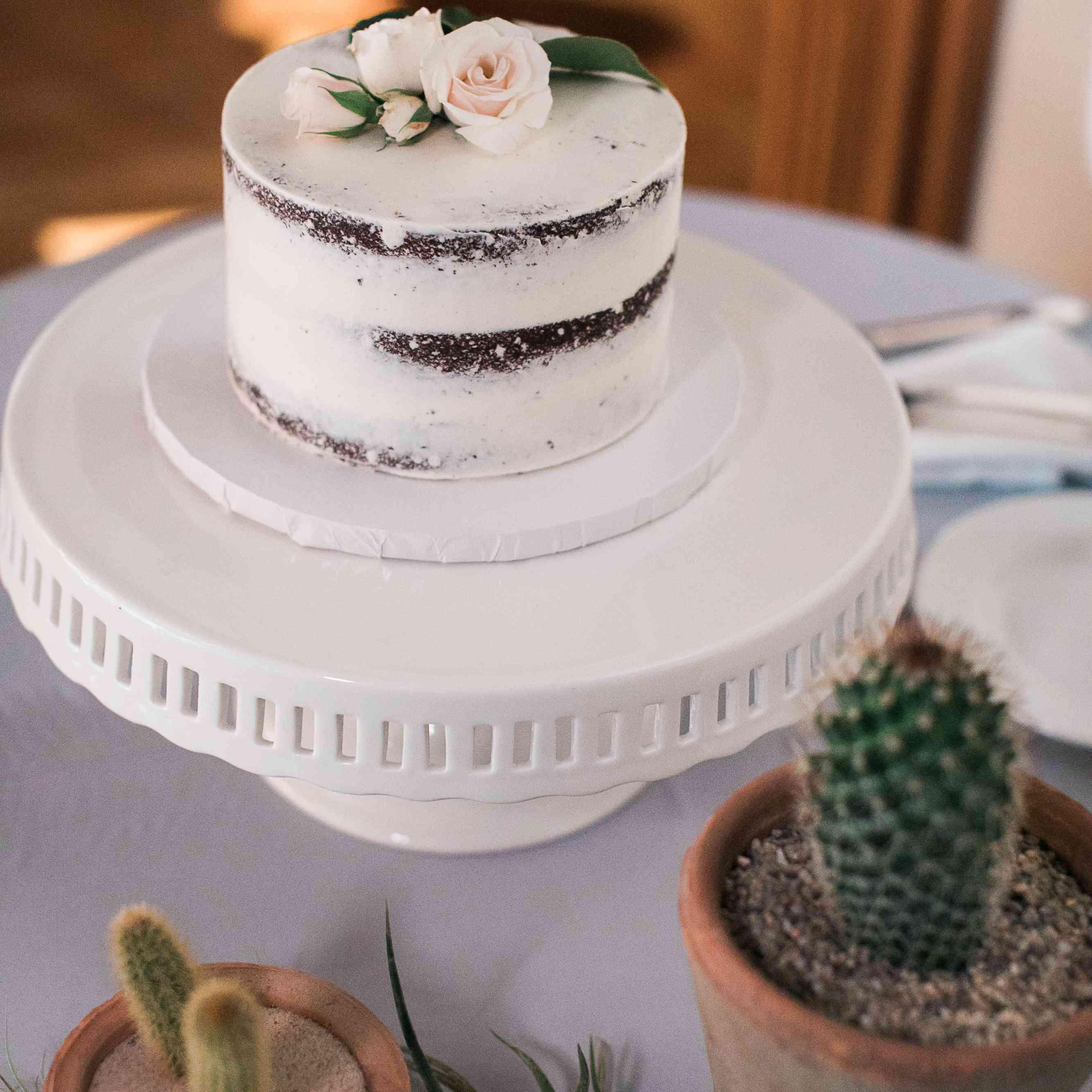 <p>Naked Wedding Cake</p>