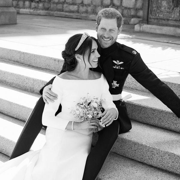 prince harry and meghan markle wedding portrait