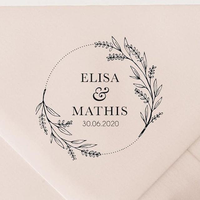 Julia Hartlie B Design Save The Date Stamp