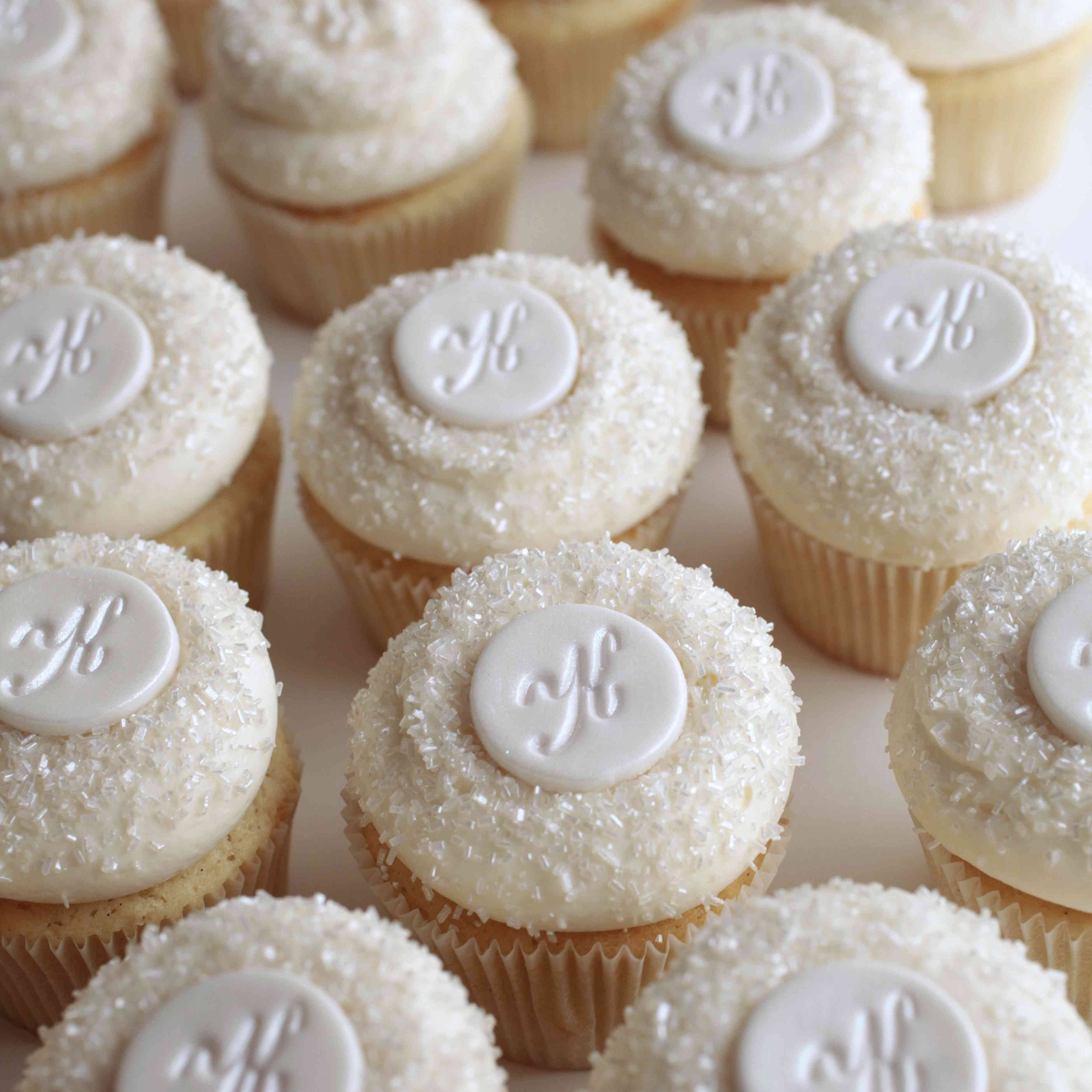 cupcakes with monograms