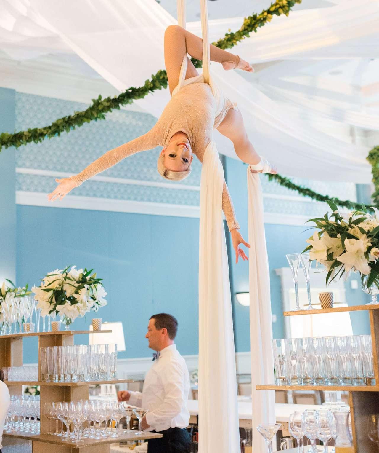 wedding entertainment aerialist