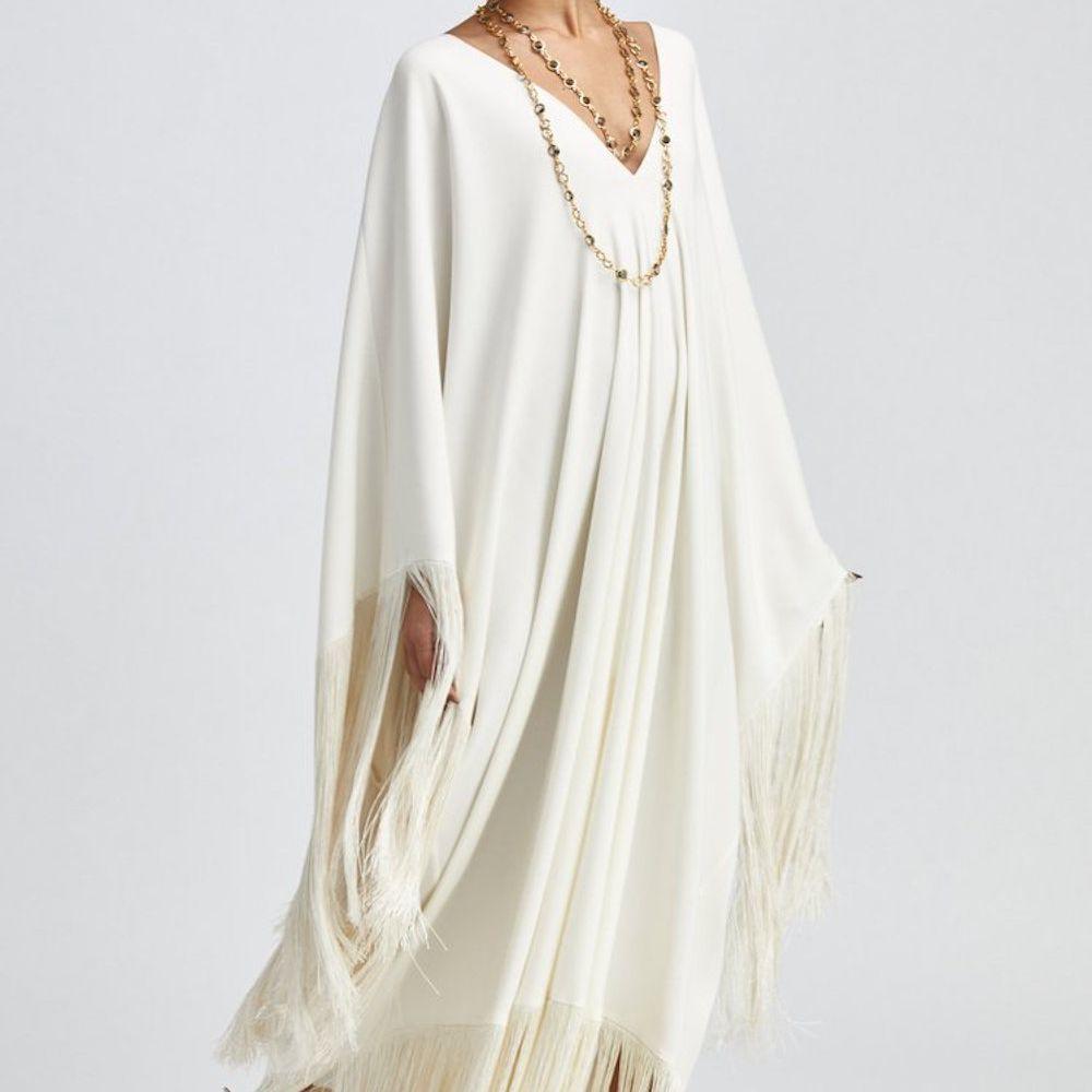 fringe wedding dress