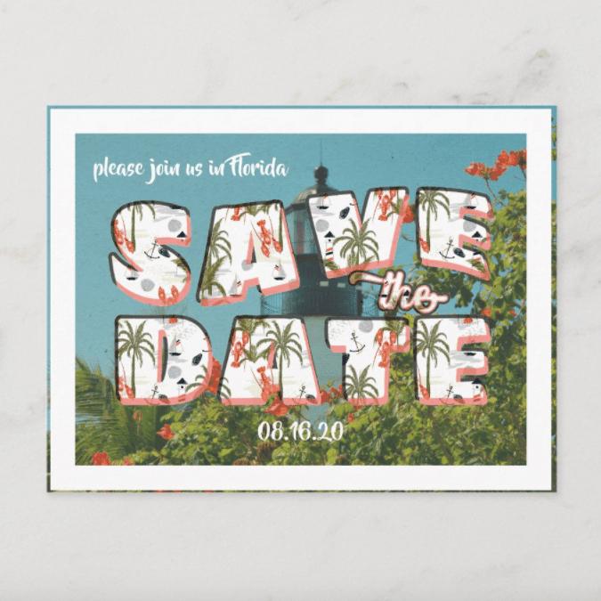 IYHTV Designs Vintage Postcard Save the Date