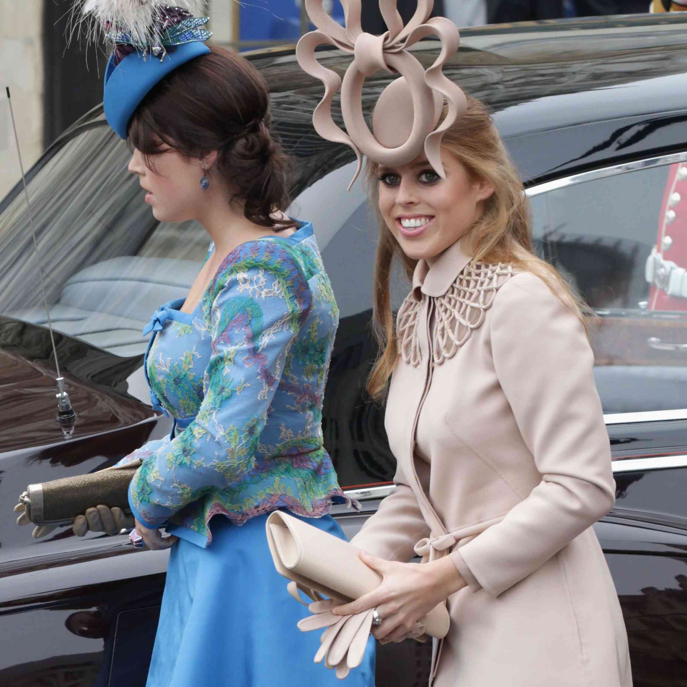 Princess Beatrice of York with her sister Princess Eugenie of York