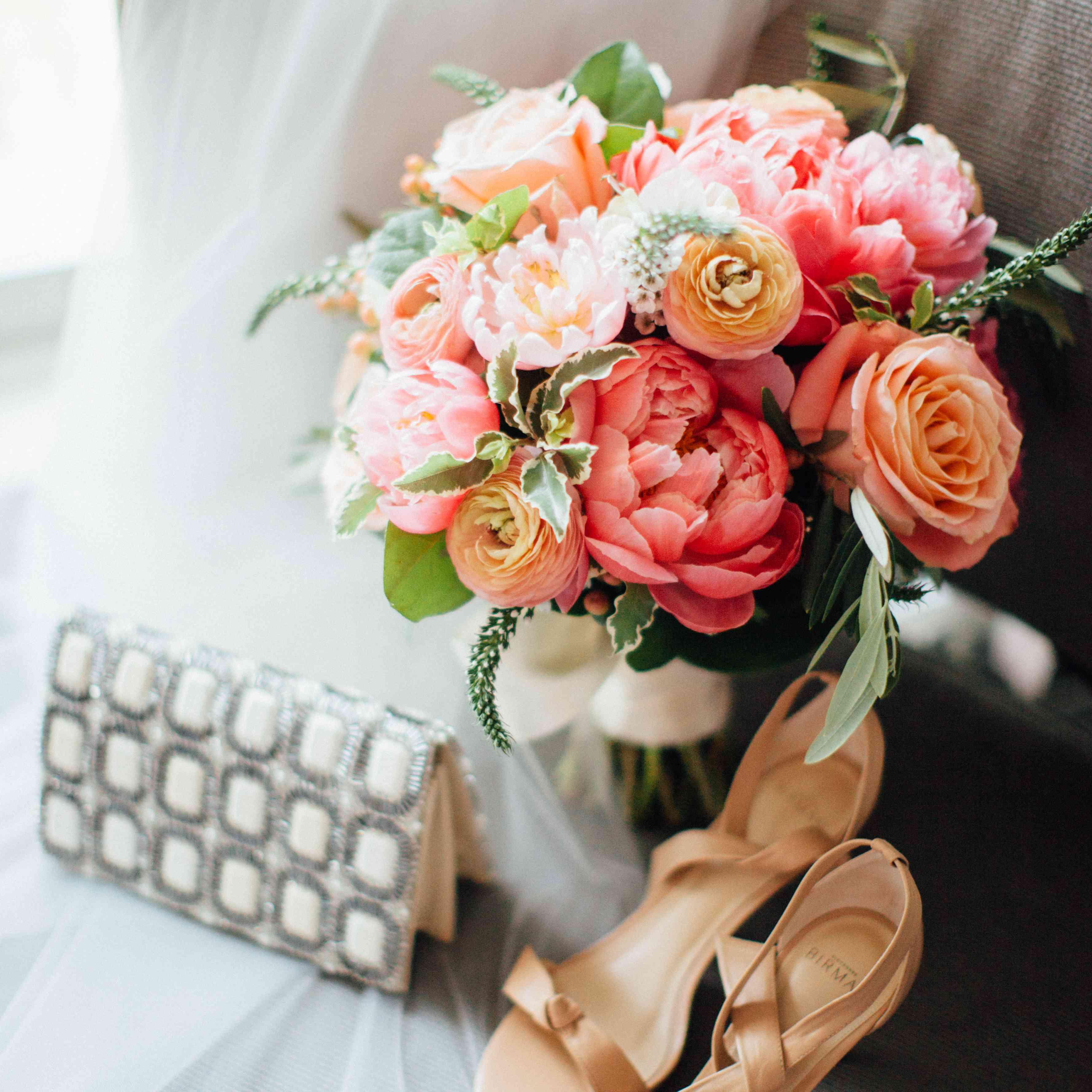 <p>Bridal Bouquet and Shoes</p><br><br>