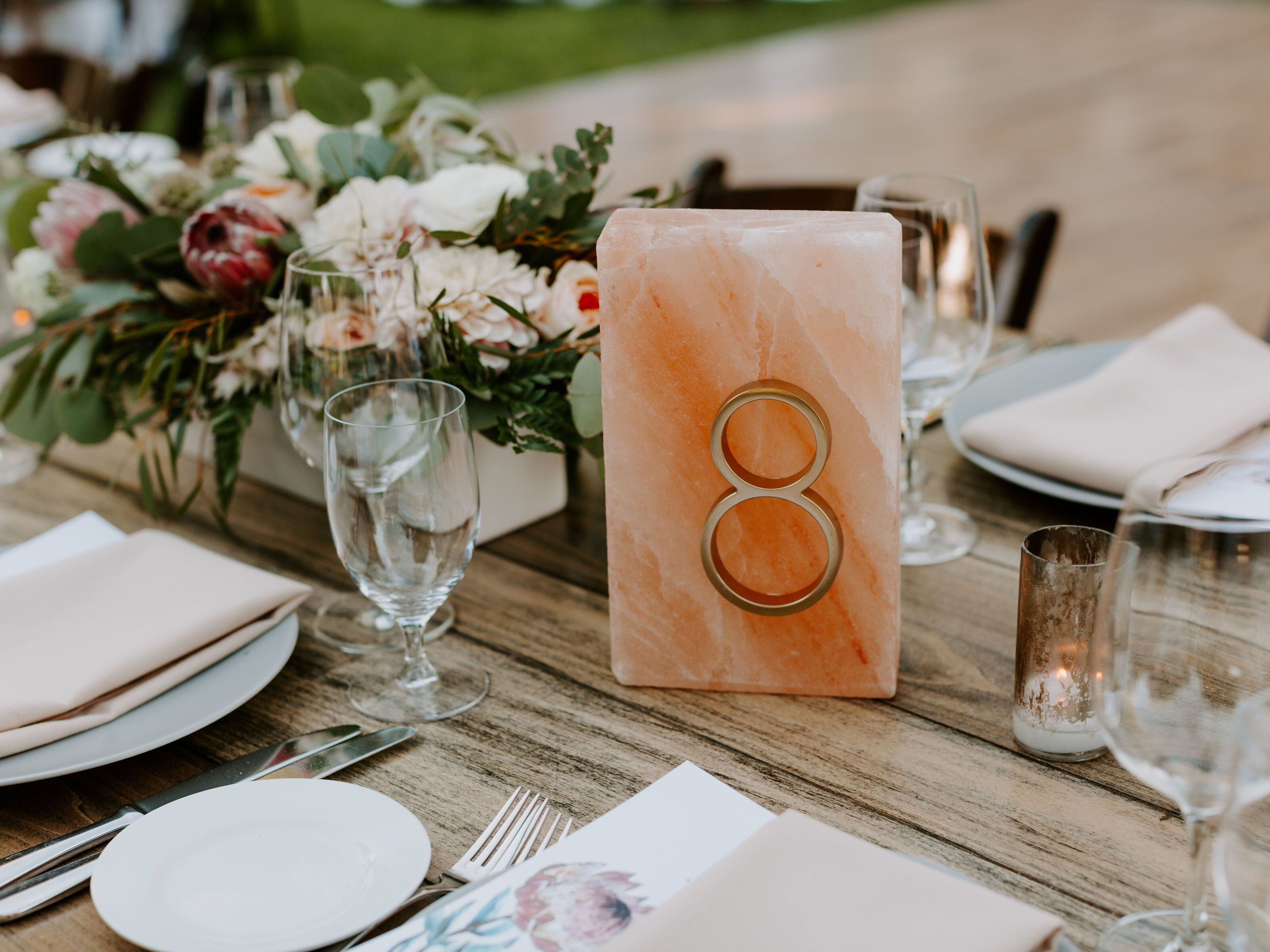 Wedding Table Numbers: 10 Inspirational Designs