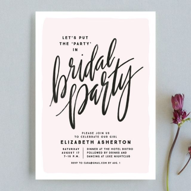 Minted Bridal Party Bachelorette Party Invitations