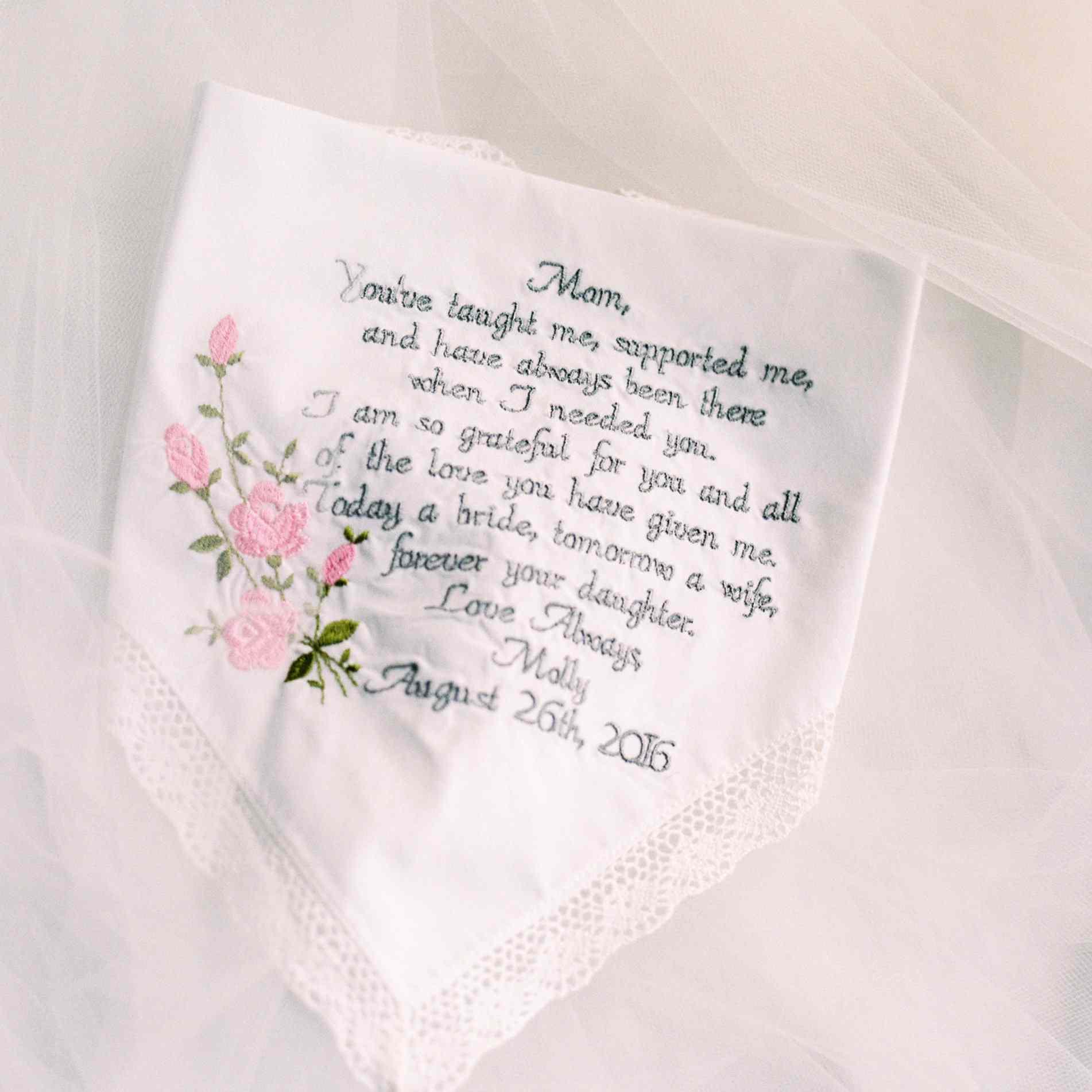 Mother gift handkerchief