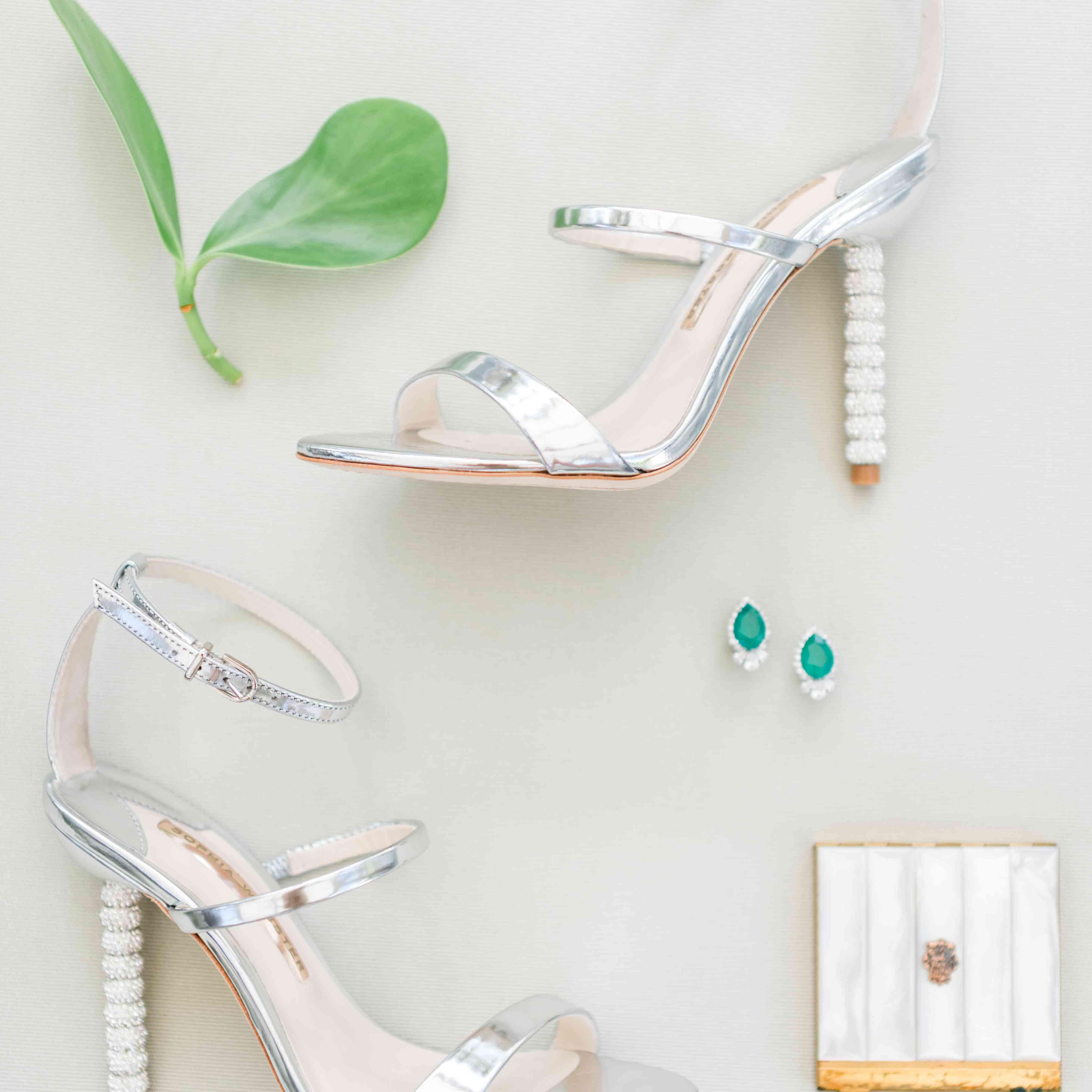 <p>bride's silver shoes</p><br><br>