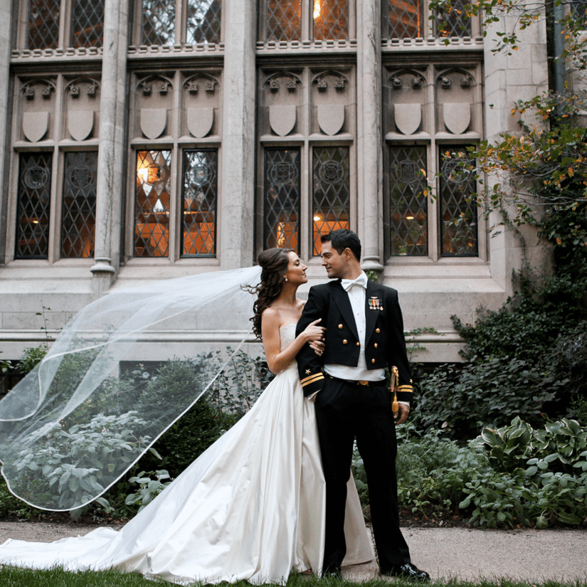 We're All Teary-Eyed Over This Military Wedding In Chicago